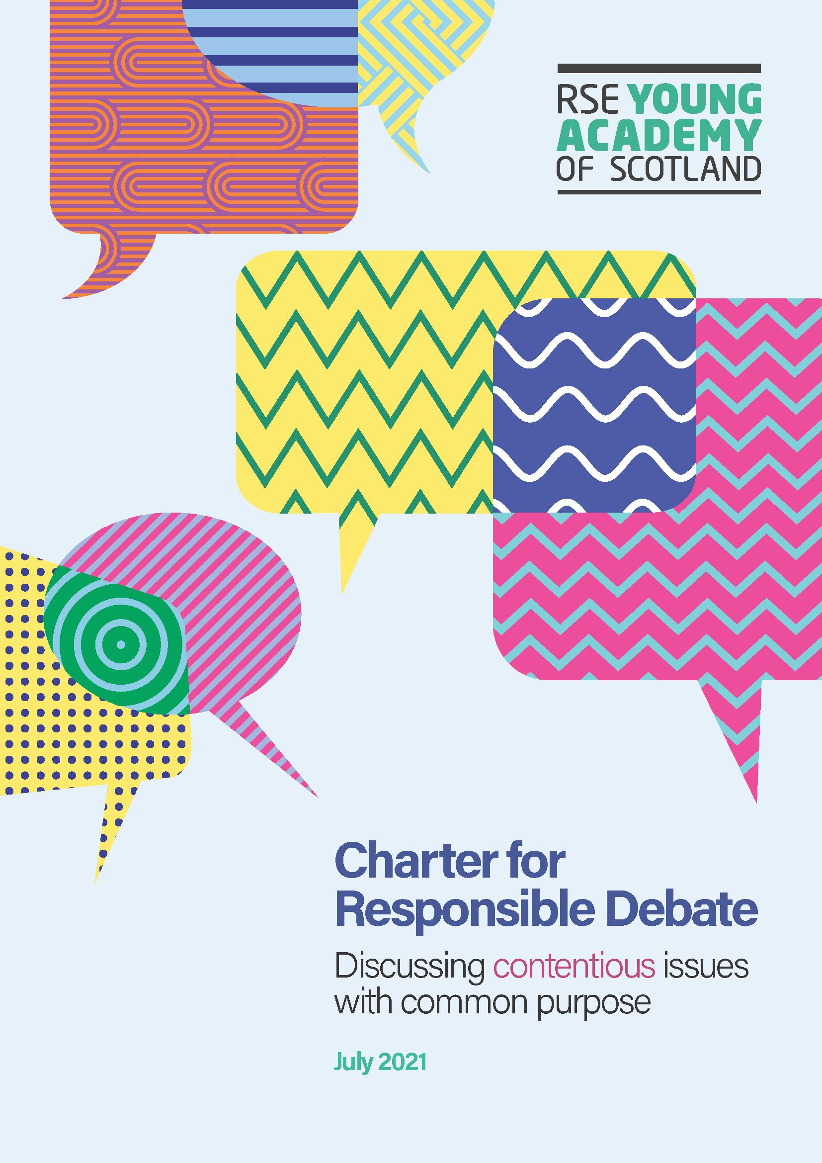 Charter for Responsible Debate report cover